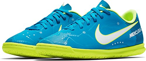 Nike Unisex-Kinder Jr MercurialX Vortex III SX IC Fußballschuhe Blau (Blue Orbit/White-Armory Navy)