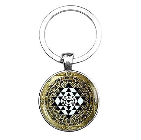 Llavero de Sri Yantra, geometría sagrada, llavero de yoga ...