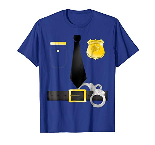 Halloween Party Police Uniform DIY Costume T-Shirt