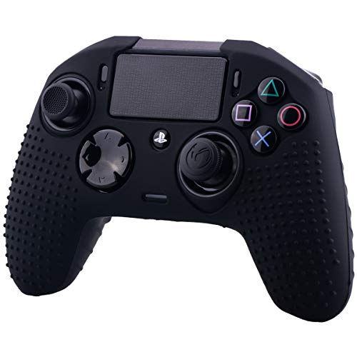 (YoRHa Studded Dots Silicone Rubber Gel Customizing Cover for NACON Revolution PRO PS4 controller [Origin & V2] x 1(Black))