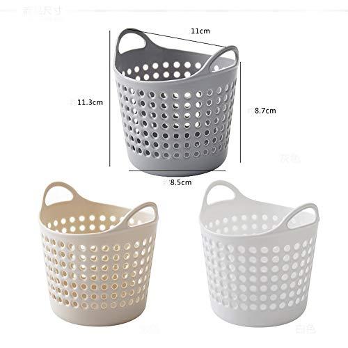 IEasⓄn Storage Basket, Housekeeping Storage Supplies Mini Desktop Storage Basket Trash Can IE-NN24 (Gray) by IEasⓄn (Image #2)