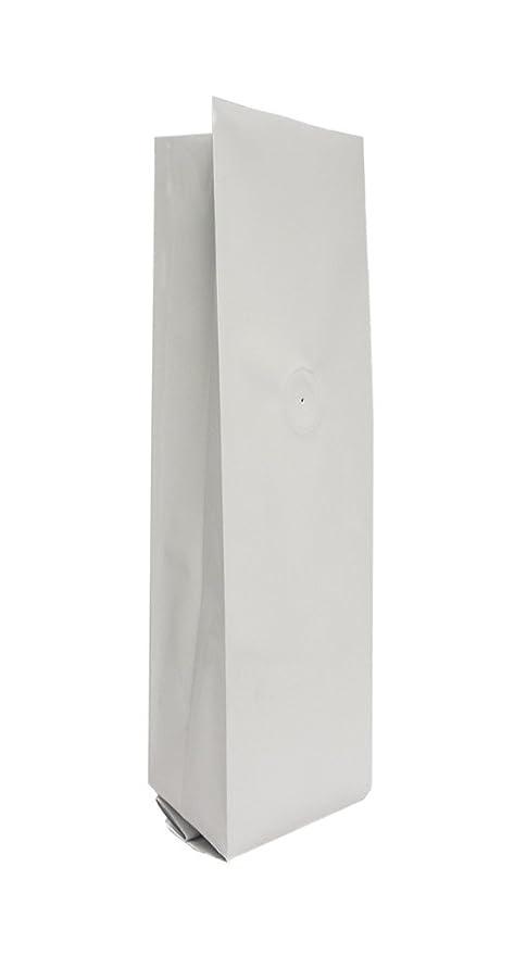 Amazon.com: 16 oz. Matte White Foil Gusseted Bolsa w/válvula ...