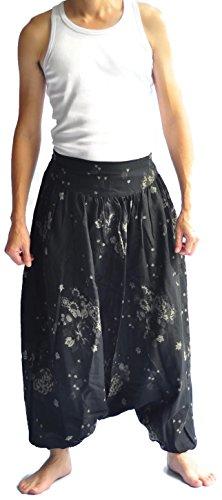 Aladdin Fine China (Siam Trendy Men's Japanese Style Pants One Size Black Pants Japanese Design)