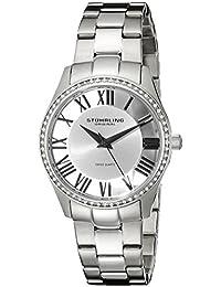 Stuhrling Original Women's 750L.01 Classic Ciara Analog Display Swiss Quartz Silver Watch