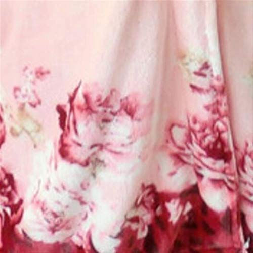 Franela Invierno Camisón Ropa Sleepwear Mujeres Elegante Dormir Albornoz Patrón Pijamas l Bata Home De Solapa Flores fFFpqEw