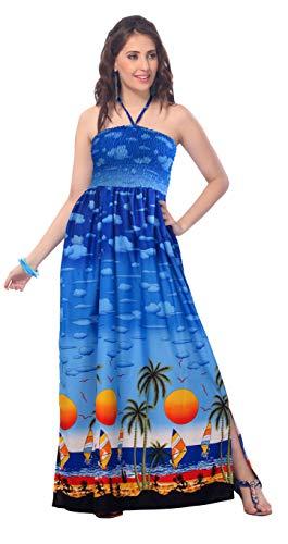Jupe LEELA Soir Dames Tout Loungewear Aloha Bleu dres Couvrir Plus en 1 Femmes Occasionnels Longue de Hawaii Sangle Maillot de Bain Beachwear Taille LA Prom o883 Tunique Likre Lisse Vacances Sundress Bandeau dOwvdqS