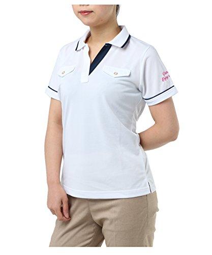 完全に無駄にウイルスオプスト レディース ゴルフウェア ポロシャツ 半袖 スキッパー半袖シャツ OP220301H04 WH O