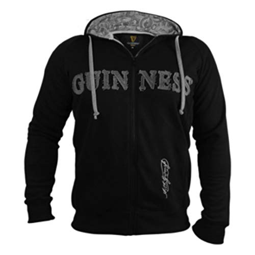Guinness Vintage Black & Grey Label Lined Hoodie (XXX-Large)