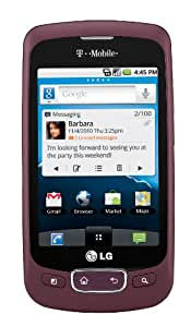 LG Optimus T Android Phone, Burgundy (T-Mobile)