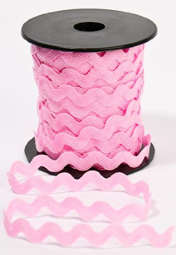 100/% Nylon Soft Pink RIC Rac Decorative Trim for Costuming 4 25 Yard Spools-100 Total Yards Crafting and Creating