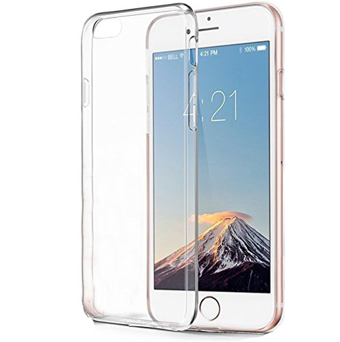 iPhone 6 Case, iPhone 6S Case, GANJOY [0.8mm Ultra Thin] Transparent Clear Soft Gel TPU Silicone Case Raised Bezels for Apple iPhone 6 / 6S Case