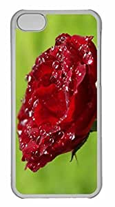 Case For Iphone 6 4.7Inch Cover Case, Personalized Custom Wet Rose Case For Iphone 6 4.7Inch Cover PC Clear Case