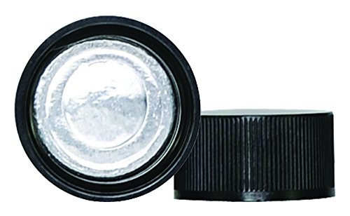 Wheaton 110062-231 Polypropylene Cap with Foil Liner, Fits Dram Vial 151066, Black, 18mm (Pack of 231) Scilabware