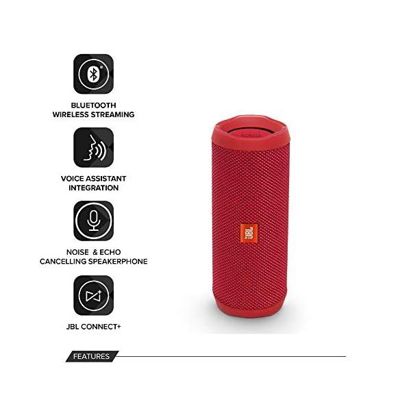 JBL Flip 4 - enceinte Bluetooth Portable Robuste - Étanche Ipx7 pour Piscine & Plage - Autonomie 12 Hrs - Qualité Audio JBL - Rouge 3