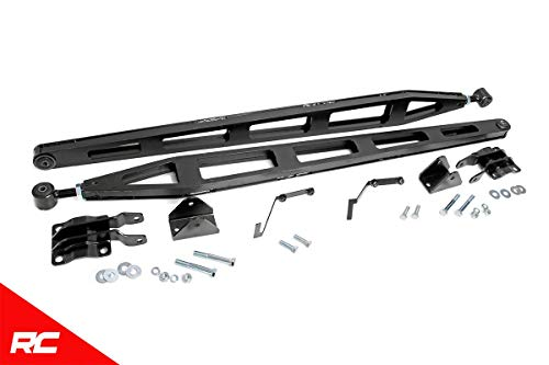 Price comparison product image Rough Country Traction Bar Kit (fits) 2015-2019 F150 (F-150) 4WD w / 5-8 Lifts Adjustable Ladder Design 1070A