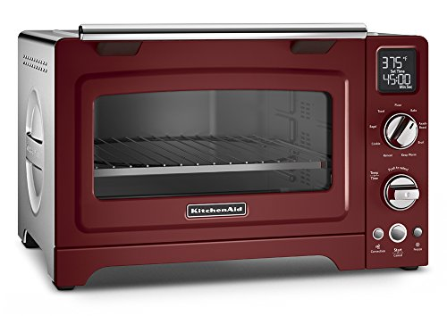 KitchenAid KCO275GC Convection 1800-watt Digital Countertop Oven, 12-Inch, Gloss Cinnamon (Red Toaster Oven Kitchenaid compare prices)