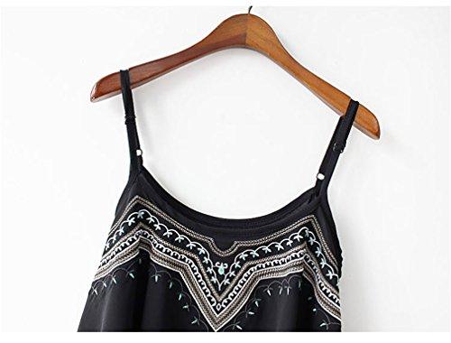 Drasawee - Camiseta sin mangas - trapecio - para mujer blanco