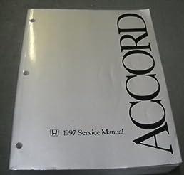 1997 honda accord service shop repair manual factory honda amazon rh amazon com 91 Honda Accord Manual Honda Accord Parts