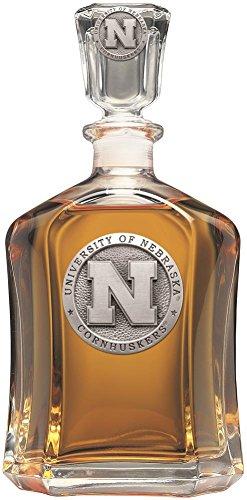 Heritage Metalwork Nebraska Cornhuskers Decanter Whiskey Liquor Bottle by Heritage Metalwork