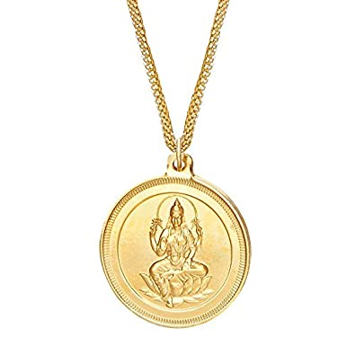 Buy shining jewel 24k gold plated lakshmi coin pendant and necklace shining jewel 24k gold plated lakshmi coin pendant and necklace sj2162 aloadofball Images