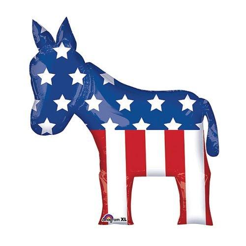 Democratic Donkey Balloon - 32 Inch Mylar Balloon ()