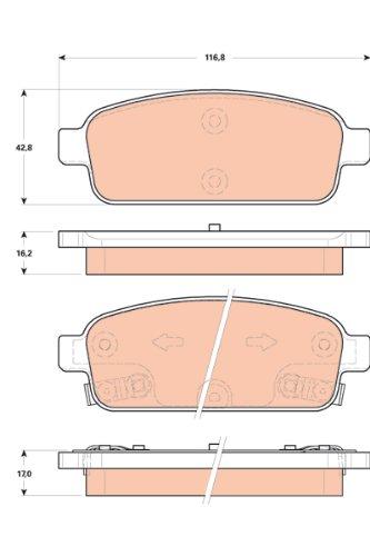 TRW TPC1468 Premium Ceramic Rear Disc Brake Pad Set TRW Automotive