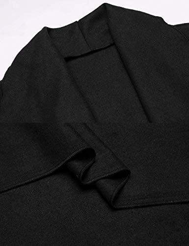 Survêtement Costume Inclus Manche Printemps Manteaux Couleur Ceinture Automne Hipster Classics Revers De Manteau Long Élégant Veste Fashion Schwarz Femmes Trench Pur TqxZxUSO