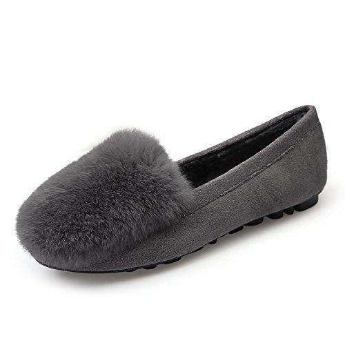 GAOLIM Die Seto Schuhe Herbst Erbsen Und Winter Erbsen Erbsen Herbst Schuhe Frauen Schuhe Schwangere Frauen Baumwolle Schuhe Flache Schuhe Einzelne Schuhe - b7da50