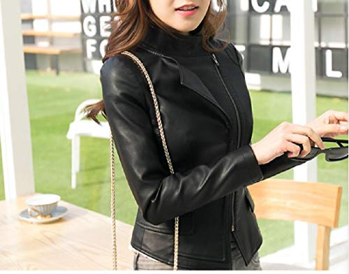 Oversized Black Parka Outwear Leather Coat Women Howme Fashionable Jacket g4wTnq