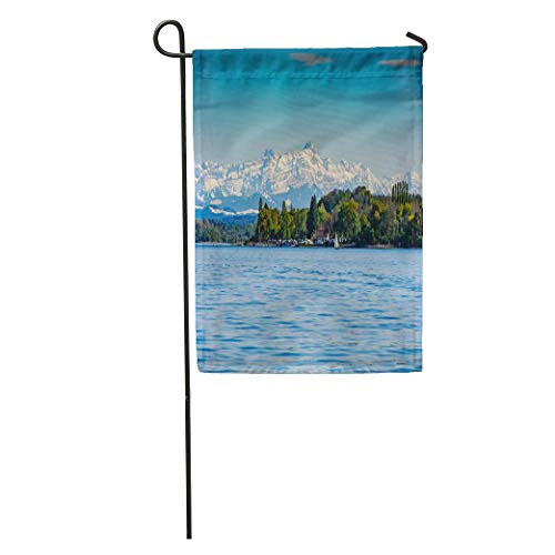 Nfuquyamluggage Garden Flag Blue Alps Mountain Saentis Over The Lake Constance Green Camping Home Yard House Decor Barnner Outdoor Stand 12x18 Inches Flag