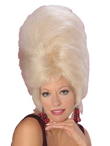 Beehive Wig Blonde (Rubie's Costume Large Blond Beehive, Yellow, One Size)