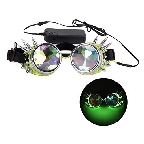 Night Vision Glasses, Festivals Kaleidoscope Goggles Rave Steampunk Party Sunglasses ()