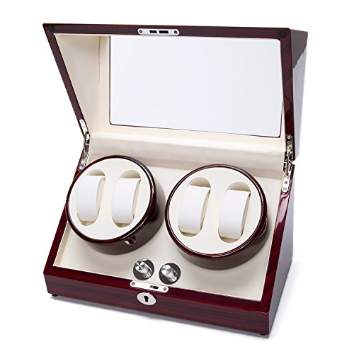 Watch Winder Case Automatic Quad Watches Jewelry Storage Cases Display Box by Gregarder (Image #1)