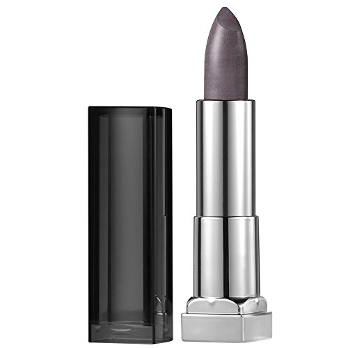 - Maybelline New York Color Sensational Silver Lipstick Metallic Lipstick, Smoked Silver, 0.15 oz