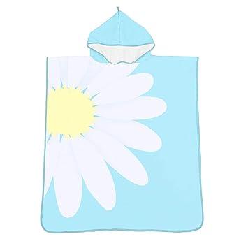 Poncho de toalla de baño con capucha para niños Frutas y patrón de flores Unisex Niños ...