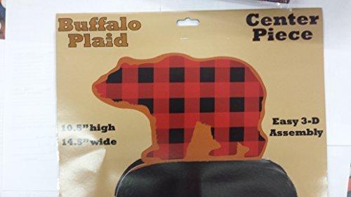 Buffalo Check Bear Centerpiece (14.5