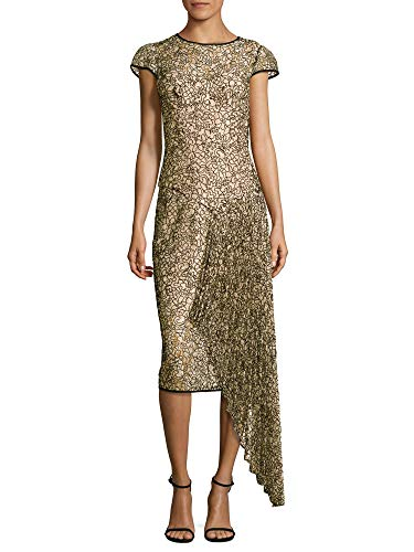 MILLY Margaret Short Sleeve Corded Lace Cocktail Dress