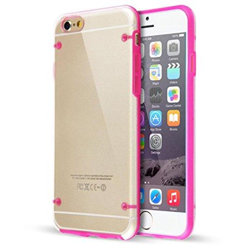 LUNIWEI Glow TPU Rubber Gel Ultra Thin Clear Case Cover for iPhone 6 Plus