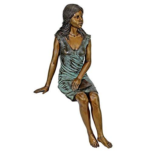 (Design Toscano Reading Rosalind Sitting Lady Cast Bronze Garden Statue)