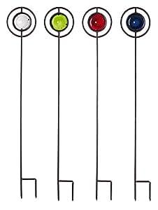 Evergreen jardín Colorido jardín estacas (Set de 4)