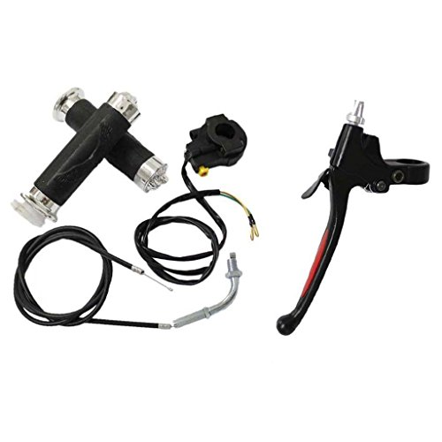 HURI Kill Switch Handle Bar Throttle Cable Clutch Lever for Motorized Bicycle Bike 49cc 66cc 80cc 2 Stroke Engine