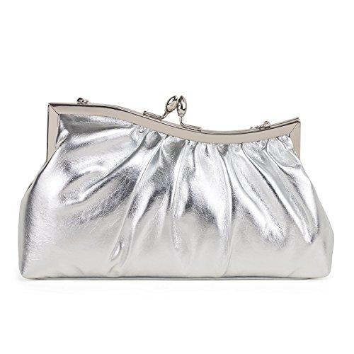 Silver Clutch 90406 Womens Farfalla Silver 90406 Womens Farfalla q0waF8xWP