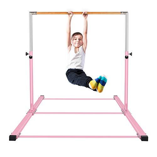gymmatsdirect Gymnastics Junior Training Bar - Adjustable Horizontal Kip Bar for Kids 4.2' Wide 6' Long 36
