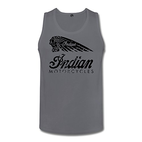Indian Chief Motorcycles Men Tank Top Deepheather X-Large (Indian Chief Headdress For Sale)