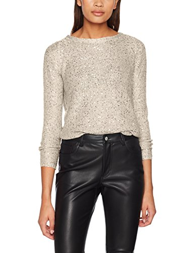 KNT Only S Sequins Femme L Gris Pull Pullover Matching Pumice Onladele Stone Detail Sequins w HxgqU6wXxr