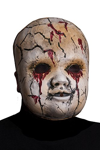 Creepy Doll For Halloween (Morbid Enterprises Creepy Facemask Doll, Tan/Red/Black, One Size)