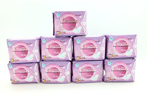 9 packs Prettiee Energy Sanitary Night Napkin 275mm ( 8 Pads ) by Prettiee
