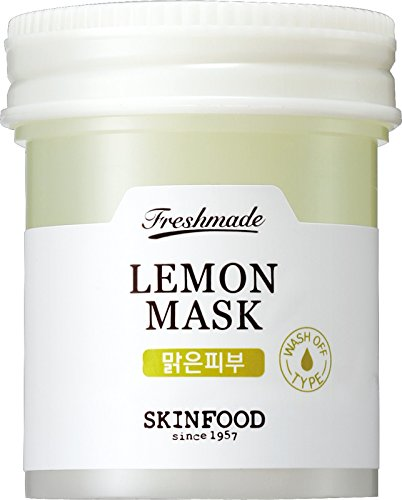 (Skinfood FRESHMADE Lemon Facial Mask, Vitamin C Brightening & Moisturizing Gel Type Wash-off (90 ml))
