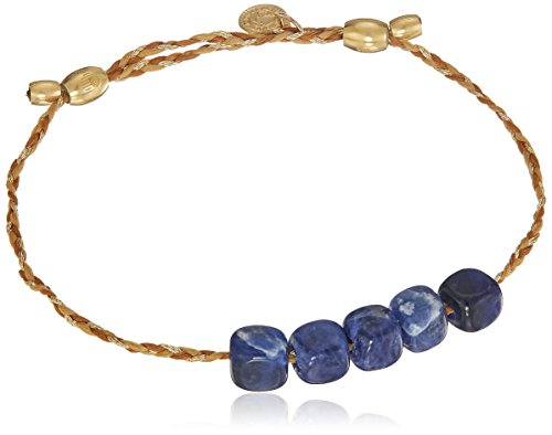 Alex and Ani Precious Bracelet, Sodalite Gemstone, Daffodil Braid, 14kt GP (Sodalite Gemstone Bracelet)
