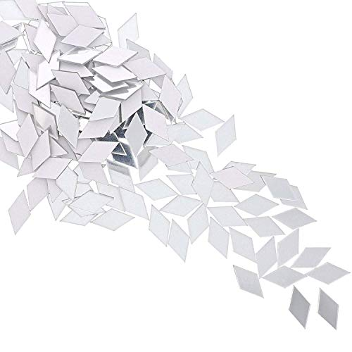Juvale Diamond Adhesive Mirror Tiles for Wall Decor (150 -